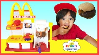 MCDONALD'S HAMBURGER MAKER & McDonald's Cash Register Toys for Kids