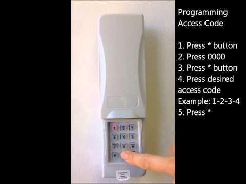 How to program the SOMMER wireless keypad