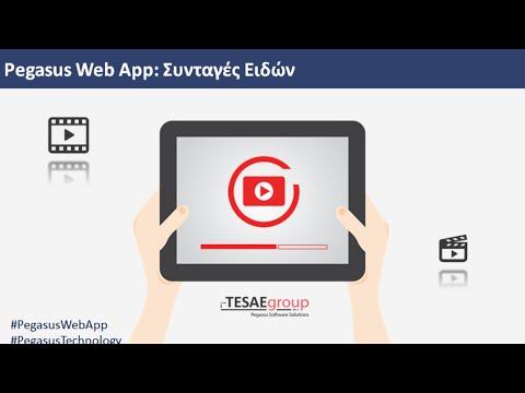 Pegasus Web App-Συνταγές Ειδών