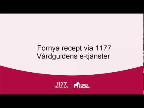 Förnya ditt recept via 1177 Vårdguidens e-tjänster