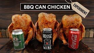 BEER CAN Chicken Experiment - Coke, Wine and Beer!