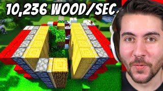 Testing The Best Wood Harvesting Methods in Minecraft!
