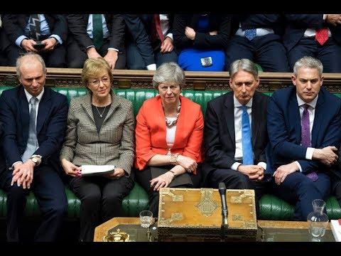 梅伊脫歐協議草案 英國國會二度否決 20190313 公視早安新聞