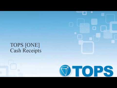 TOPS [ONE] Tutorial: Processing Homeowner Cash Receipts