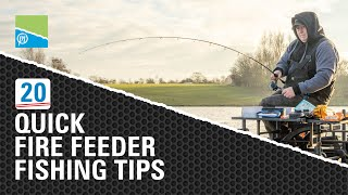 Video thumbnail for 20 AMAZING Feeder Fishing Tips! Preston Innovations Match Fishing Videos