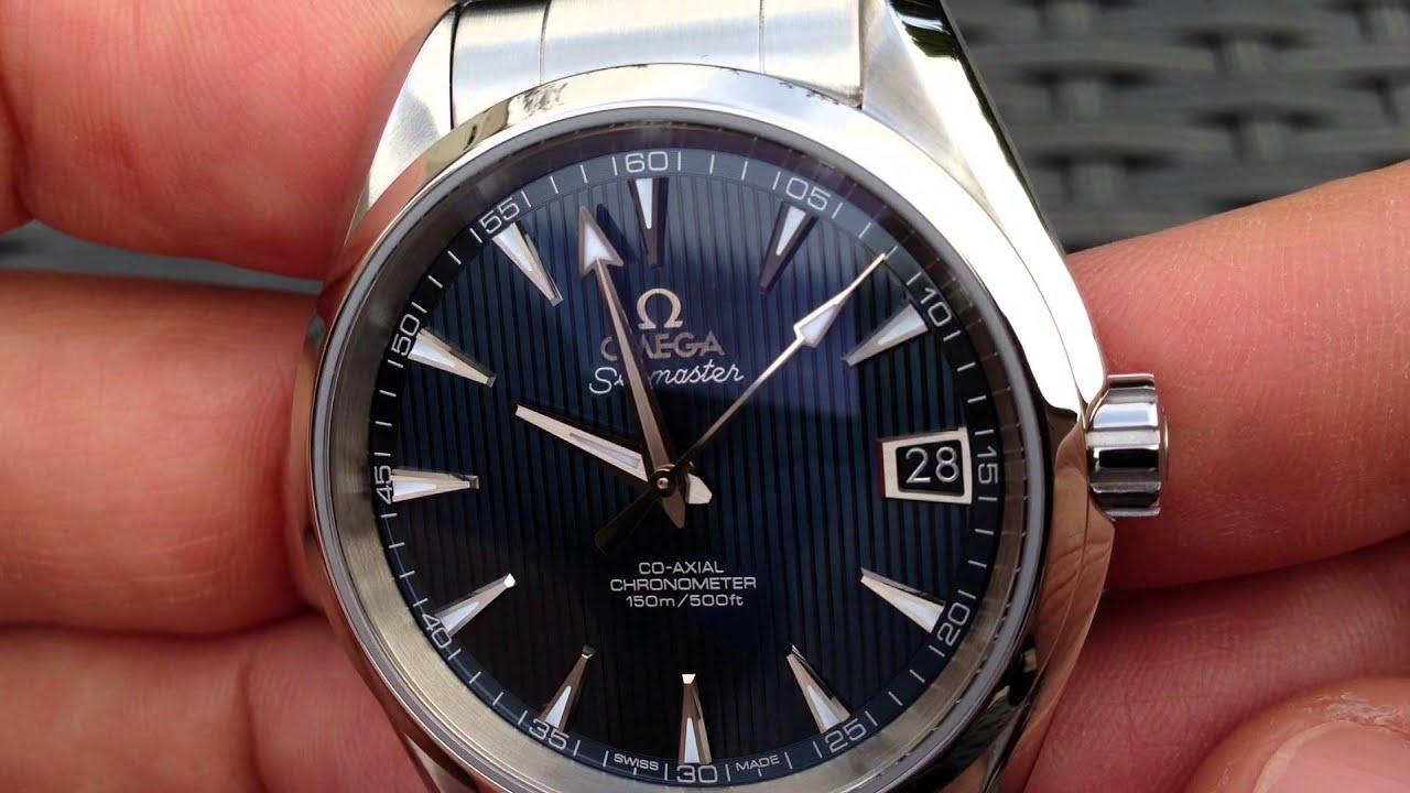 Omega Aqua Terra Blue 38 5mm Youtube