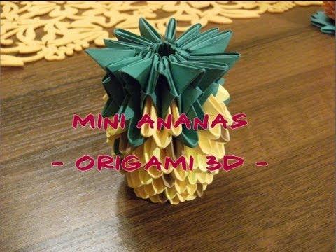Jak złożyć małego ananasa z papieru