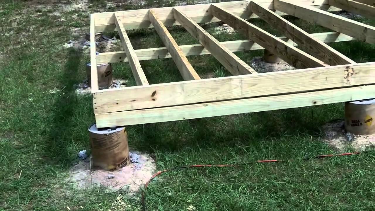 Diy Shed Floor Plans: Part 2: Floor