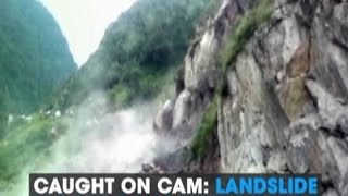 Caught on cam: Landslide blocks Gangotri highway..