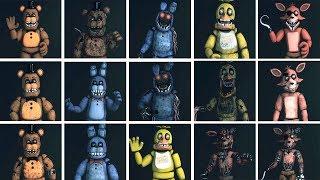 FNaF SFM: Original Four - Characters Appearance Timeline (Series Backstage Animation)