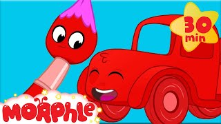 Towing With Colors - My Magic Pet Morphle | Learning For Kids | Construction Videos For Kids