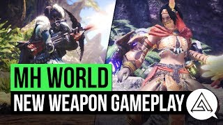 Monster Hunter World | New Gameplay - Insect Glaive, Switch Axe, Dual Blades & Light Bowgun