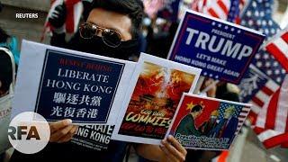 Hồng Kông: Người biểu tình hát quốc ca Mỹ, cảm ơn Tổng thống Trump