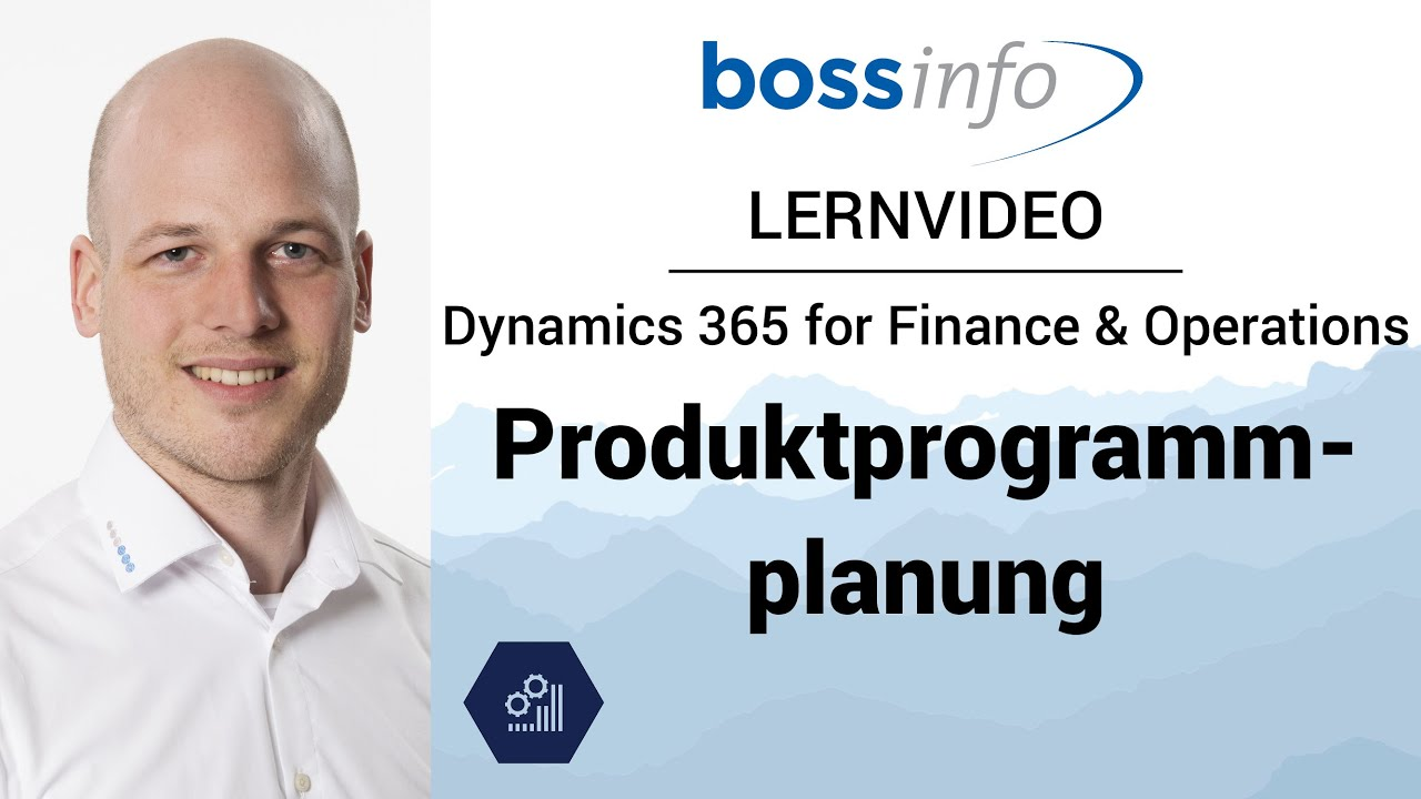 Microsoft Dynamics 365 for Finance and Operations, Enterprise – Produktprogrammplanung