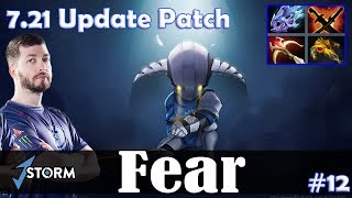 Fear - Sven Safelane | with Fly (CM) 7.21 Update Patch | Dota 2 Pro MMR Gameplay #12