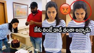 Rashmika Mandanna cries like child at director Venky Kudum..