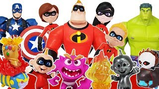 Incredibles 2 Disney Toybox, Avengers Go~! Hulk, Spider Man, Iron Man, Captain America Toys Play