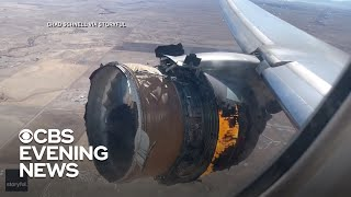 Engine explodes moments into United Airlines flight
