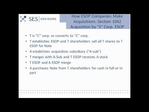 Using ESOPs as an Acquisition Strategy
