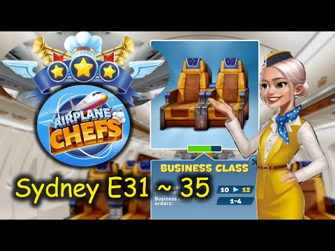 Enjoy more time with Business Class seats in Sydney Airlines, E31 ~ 35 (Airplane Chefs)