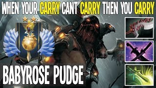 When Your Carry Cant Carry Then You Carry [Divine Pudge Carry] | Dota 2 Pro Gameplay