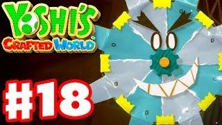 Yoshi's Crafted World - Gameplay Walkthrough Part 18 - Shadowville 100%! Be Afraid!