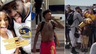 WARRIORS PLAYERS ARRIVE IN THE BAY GREETED TO CHEERING WARRIORS FANS AFTER WINNING NBA CHAMPIONSHIP