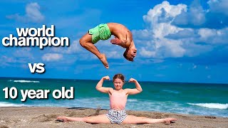 KID vs ADULT - Extreme Acro Gymnastics Competition