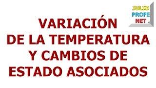 123. VARIACIÓN DE LA TEMPERATURA Y CAMBIOS DE ESTADO ASOCIADOS