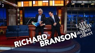 Sir Richard Branson Takes Off His Pants