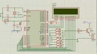 Microcontroller 8051 PERSON COUNTER proteus simulation - Anirudh Sharma