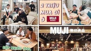 2 Triệu mua gì ở Muji official store-gặp anh Khoai và Chị An Phương đáng yêu quá