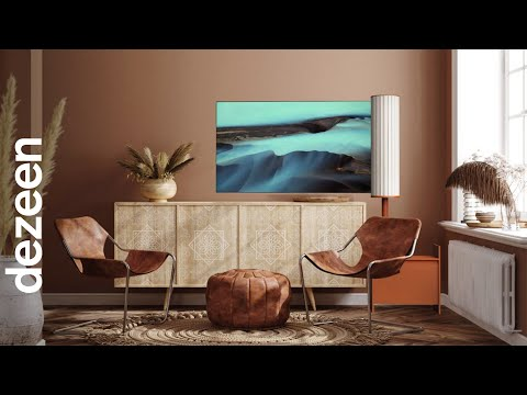 Doyeon Shin designs OLED television that unfurls like a flag   Dezeen