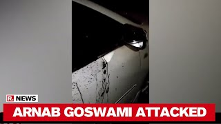 Watch: Arnab Goswami's car after the physical attack by Co..