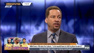 UNDISPUTED | Chris Broussard Great Expectations NBA Execs: 50 wins for Lakers