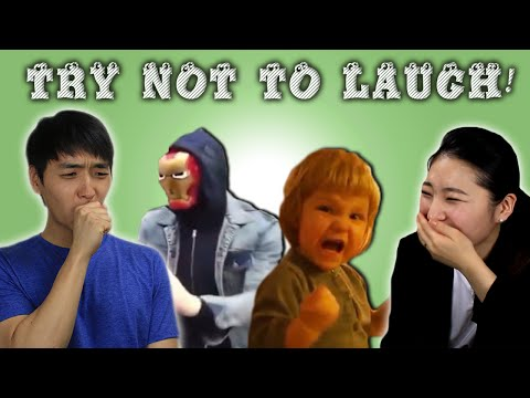 Koreans React to Try Not to Laugh Challenge