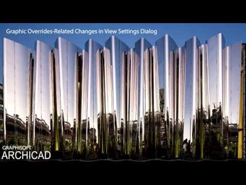ARCHICAD 20 - Graphic Overrides-related Changes in View Settings Dialog