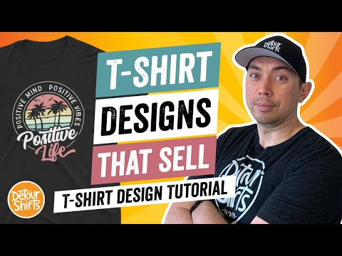 T-Shirt Designs That Sell – T Shirt Design Tutorial for Non-Designers, Make This for Print on Demand