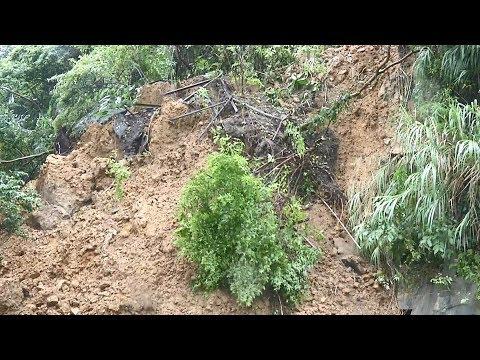 16縣市豪、大雨特報 汐止秀山路土石崩塌 20190624 公視中晝新聞