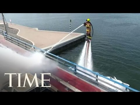 Dubai Firefighters Battle Fires With Jet Packs   TIME