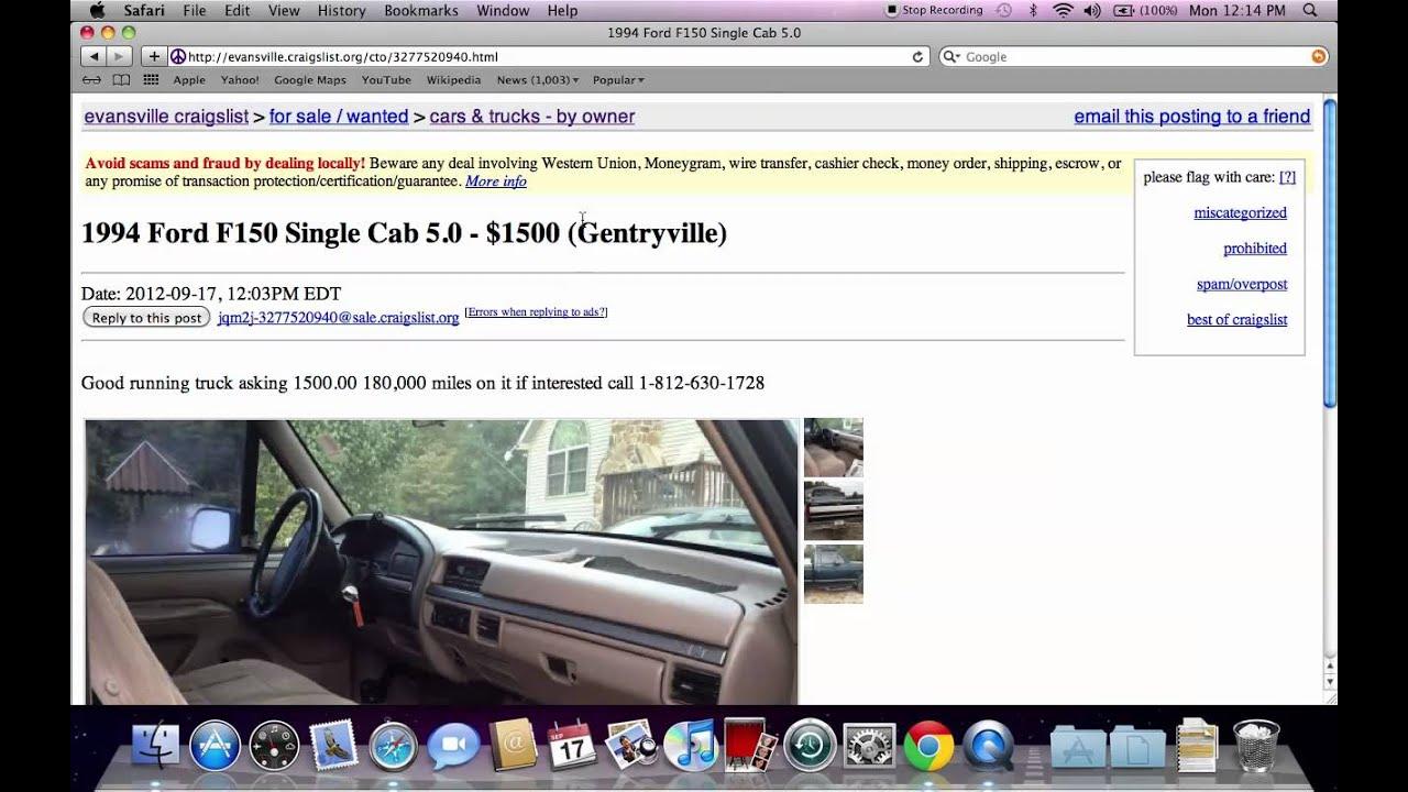 Craigslist Lexington Cars: Craigslist Evansville Indiana Used Cars And Trucks