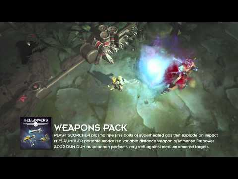 HELLDIVERS: Super-Earth Ultimate Edition | Pré-visualização do Weapons Pack