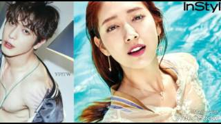 Jung Yong Hwa Park Shin Hye  pose for the magazines