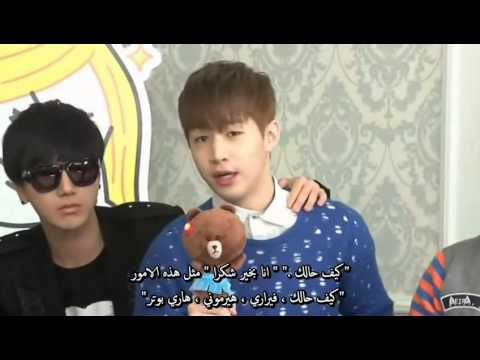 Henry Speeking English Funny !! Cute~~ (Arabic sub)