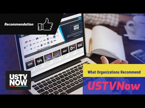 What organizations recommend USTVNow?