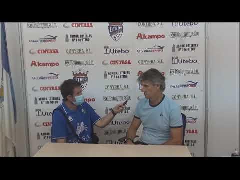 JUAN CARLOS BELTRÁN (Entrenador Utebo) FC Utebo 1-0 SD Borja / Jornada 2 - Grupo A / Copa Federación