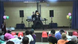 Darth Vader Salsa Trombone Playing and Dancing