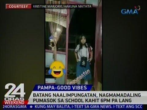 24 Oras: Batang naalimpungatan, nagmamadaling pumasok sa school kahit 6pm pa lang