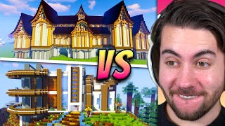 Can 4 PROS Beat 100 NOOBS in A Minecraft Build Off?