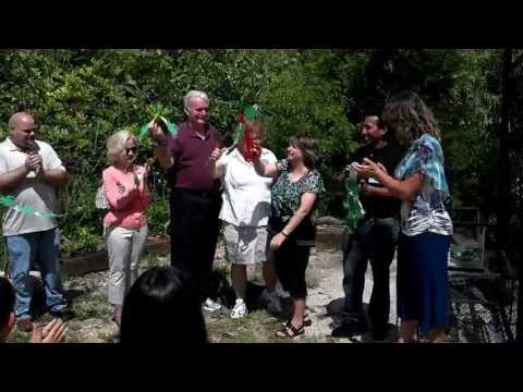 Cutting of the ribbon for Wally's Habitat